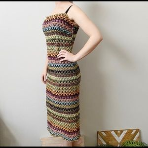 Necessary Objects Multicolor Knit Tank Dress